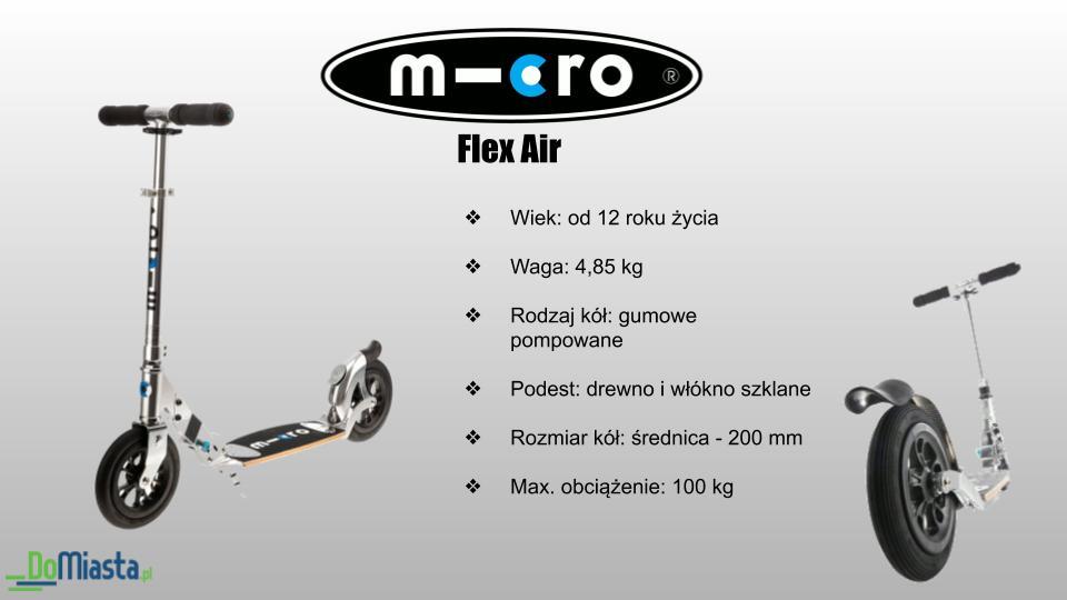 MICRO Flex Air Cechy